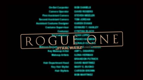 Fuite des noms du générique de Rogue One ?