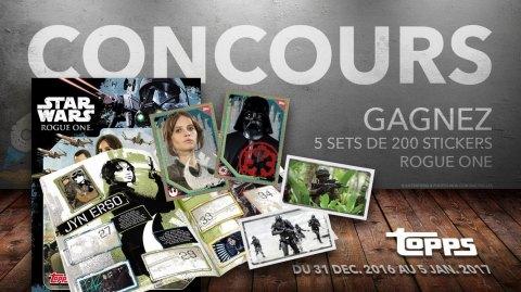 Concours: Gagnez 5 sets complets de la collection Rogue One avec Topps