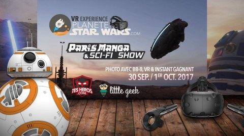 Photo avec BB-8, VR Experience, Instant Gagnant au Paris Manga & SF