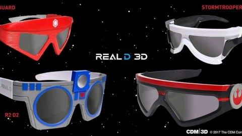 Les lunettes 3D Les Derniers Jedi viennent de paraître