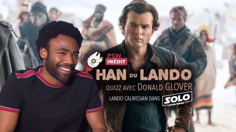 Donald Glover joue à Han ou Lando ? avec Planète Star Wars !
