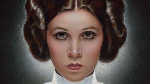 Un poster Art Print de la Princesse Leia par Sideshow et ACME Archives