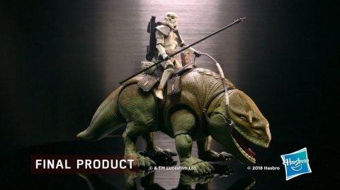 Le Making Of du Dewback Black Series Hasbro en vidéo !