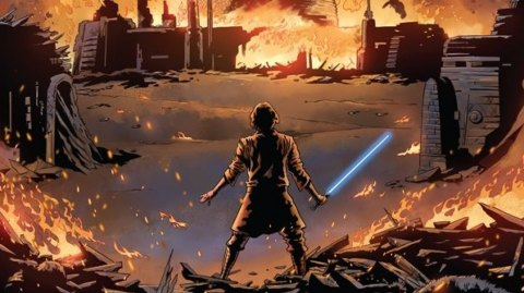 La destruction du Temple de Luke Skywalker en Comics !