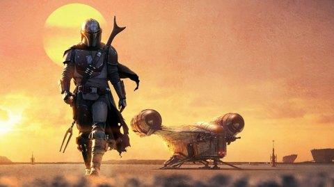 Le créateur de la saga en visite sur le plateau de The Mandalorian