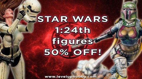 Des femmes Stormtrooper et Boba Fett en figurines 1/24ème