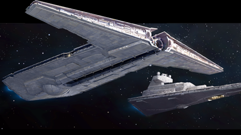 Le Destroyer de Classe Onager disponible dans le jeu Star Wars Armada