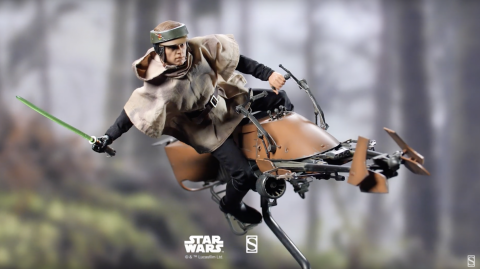 Video Sideshow : figurine 1/6  Hot Toys Luke Skywalker & Speeder Bike