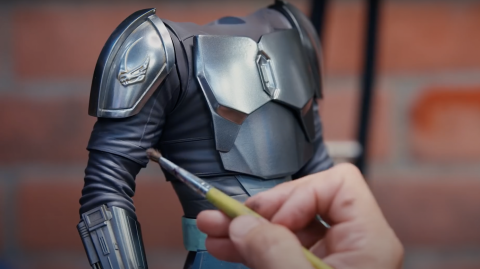Un making of pour la figurine du Mandalorien Sideshow Premium Format