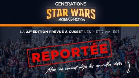 La convention Générations Star Wars à Cusset change de dates !