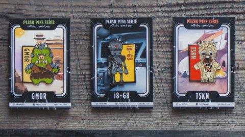 Les nouveaux pins Star Wars de la série Plush Pins