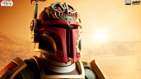 Un buste de Boba Fett version aztèque
